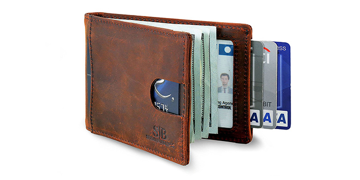 53fe8dd978a2 This wallet is made from high quality leather that absorbs the natural oils  of your hands which will allow the wallet to develop a rich and dark color.