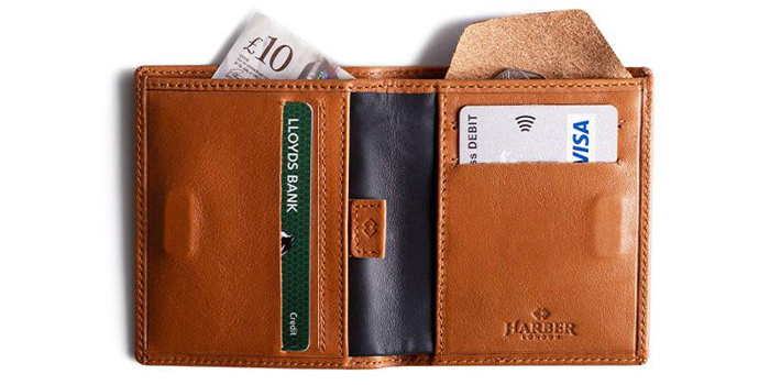Men ID Card Zip Around Safe Bifold Tall Wallet Hip Cards Holder Leather Sale