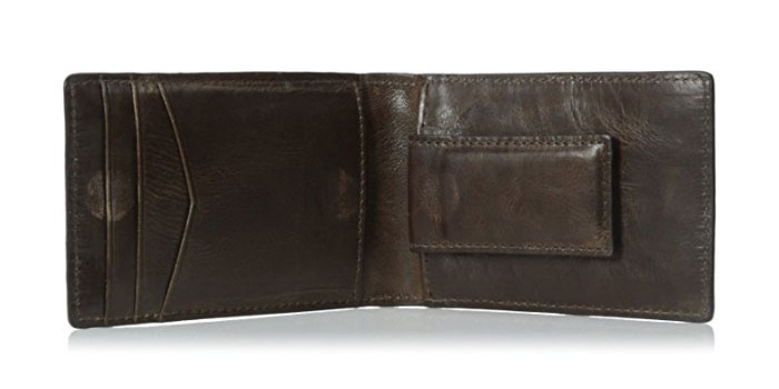 Fossil-Derrick-Money-Clip-Bifold-Wallet