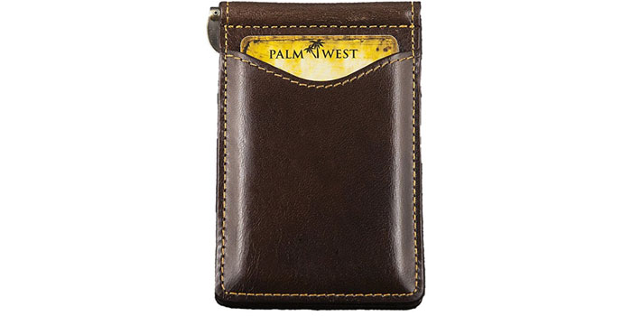 Palm-West-RFID-Blocking-Money-Clip-Wallet