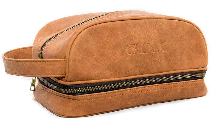 a214d2f1ff42 Best Value for Money Leather Toiletry Bag. chillax-dopp-kit-toiletary-bag -for-men