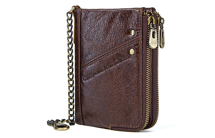 e439f8d46ec Contacts Real Leather Bifold Chain Wallett. This is a wallet ...
