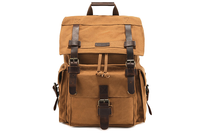 Kattee-Leather-Canvas-Rucksack