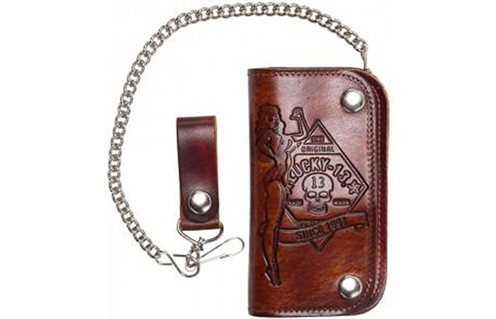 Lucky-13-Embossed-Chain-Wallet