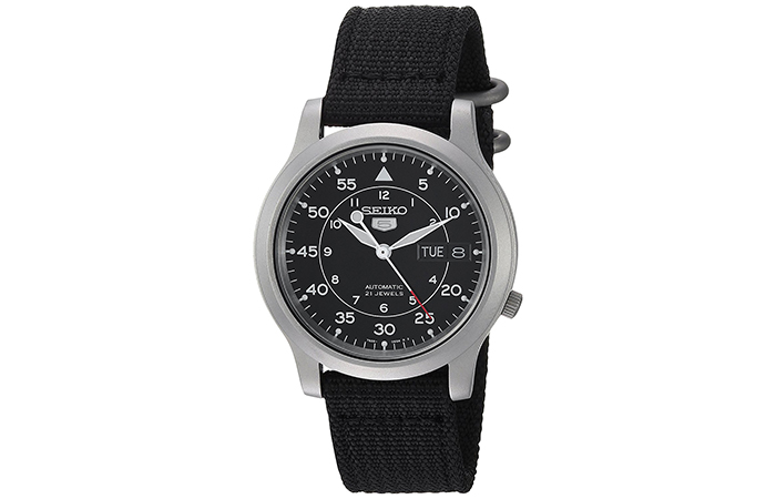 Seiko-5-Automatic-Watch-With-Canvas-Strap