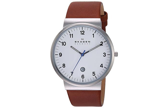Skagen-Classik-Leather-Watch