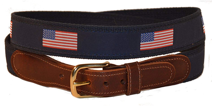 Preston-Leather-American-Flag-Belt