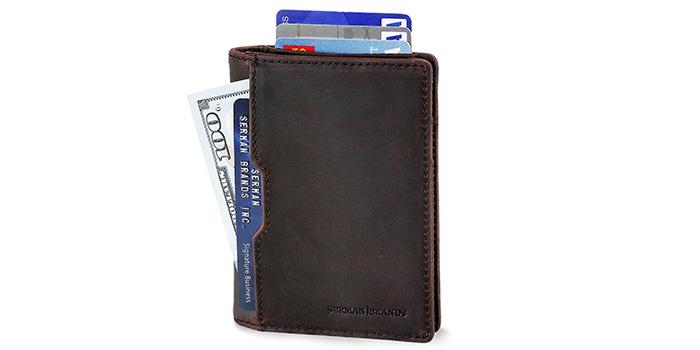 SERMAN-BRANDS-Slim-Leather-Wallet